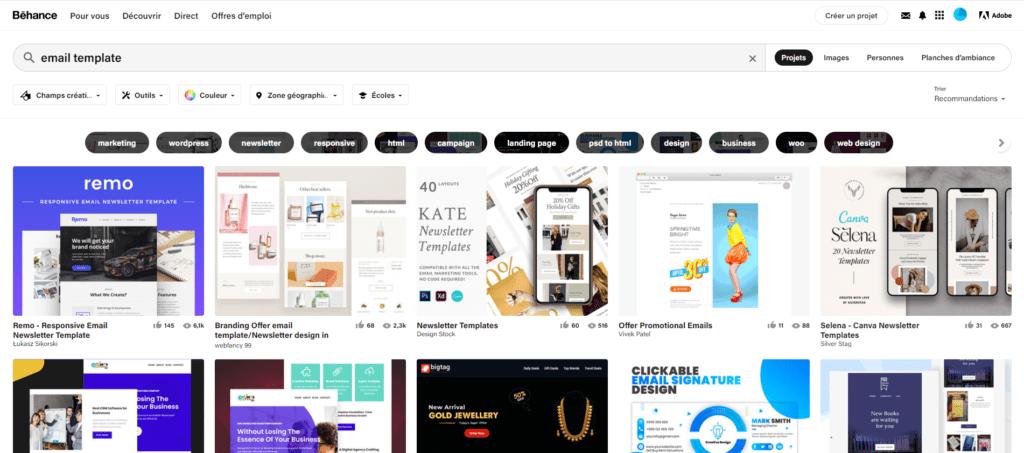 Création emailing : 17 sites pour trouver de l'inspiration 9
