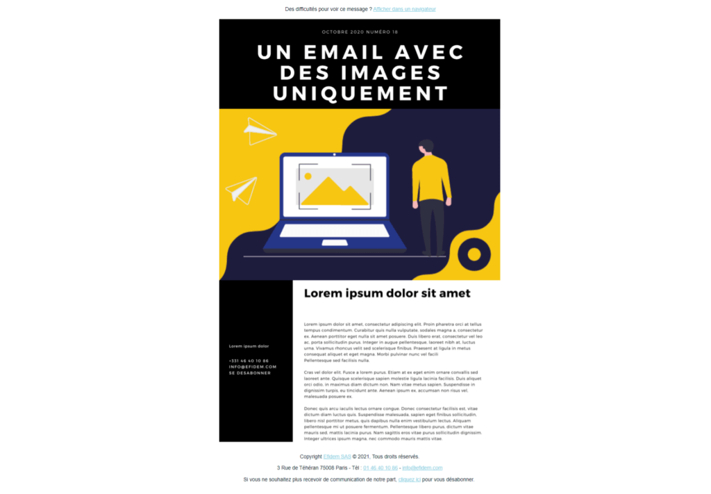 Pourquoi il faut bannir les emails contenant uniquement des images 1
